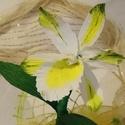Cattleya orchidea (fehér), Dekoráció, Az orchideák számtalan színben és formában gyönyörködtetnek bennünket.  Ez a Cattleya orchi..., Meska