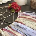 Bordó-beige álomfogó, Dekoráció, Dísz, Bordó-natúr vintage stílusú álomfogó. Mutatós kiegészítője lehet a lakásnak vagy teraszna..., Meska