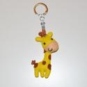 Cuki zsiráf kulcstartó, Mindenmás, Ékszer, óra, Kulcstartó, Mobilékszer, Varrás, A zsiráf mérete 7,5 cm.+ kulcstartó, Meska