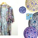 'Bazaar' puha, nőies pamut jersey  kimonó - kasmír mintás, Otthon, lakberendezés, Ruha, divat, cipő, Női ruha, Felsőrész, póló, Varrás, Puha pamut jersey kimonó vidám, gazdagon színes kasmírmintákkal. A kimonó az egyik legkényelmesebb ..., Meska