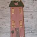 country  faház,házikó,lak  , Dekoráció, Otthon, lakberendezés, Kerti dísz, Édes kis festett faház. mérete:29cm 3mm vastag, Meska
