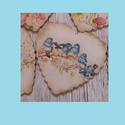 Madárkás fa képeslap szív, Naptár, képeslap, album, Ajándékkísérő, Képeslap, levélpapír, Akár ajándékkísérőnek,vagy ünnepi üdvözlő lapnak készült kedves tavaszi hangulatú madárkás fodros sz..., Meska