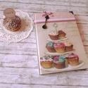 muffin Receptes füzet , Naptár, képeslap, album, Konyhafelszerelés, Jegyzetfüzet, napló, Sütis mintás receptes.Könyvkötő által készített  A5-ös méretű ekrü lapokból álló vask..., Meska