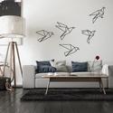Falmatrica_origami madarak, Baba-mama-gyerek, Dekoráció, Falmatrica, Gyerekszoba, Remek hangulatot varázsol ez a faldekoráció a nappalidba vagy akár a lakás más helységébe. V..., Meska