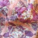 Takaró, Otthon, lakberendezés, Lakástextil, Takaró, ágytakaró, Patchwork, foltvarrás, 200x156cm nagyságú takaró. Kézzel varrt eredeti patchwork takaró. Sárga, barna szín kombóval. A tak..., Meska