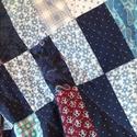 Takaró, Otthon, lakberendezés, Lakástextil, Takaró, ágytakaró, Patchwork, foltvarrás, 110x150cm nagyságú takaró. Kézzel varrt eredeti patchwork takaró. Kék bordó szín kombóval. A takaró..., Meska