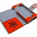 'sailor' Iphone 5s tok, Naptár, képeslap, album, Táska, Pénztárca, tok, tárca, Mobiltok, Iphone 5s telefonhoz készült tok műbőr és textil borítással., Meska