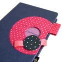 Kék-pink vonalas napló, Naptár, képeslap, album, Jegyzetfüzet, napló, 14x20 cm-es, XL-es méretű napló, vonalas lapokkal., Meska