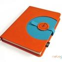 XL-es notesz/határidőnapló BORÍTÓ - piros-kék, Naptár, képeslap, album, Jegyzetfüzet, napló, Naptár, Könyvkötés, Korongos (CLICK-IN+) notesz *** CSAK BORÍTÓ!, 200 oldalas REGULAR belívhez!  *** mérete: 14x20 cm, ..., Meska