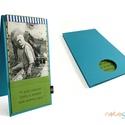 Fényképtartó-zöld-kék-csíkos, Naptár, képeslap, album, Fotóalbum, 12x22 cm-es textil borítású fényképtartó. 2 db 10x15 cm-es fotót helyezhetsz el benne.  Táskába, fal..., Meska