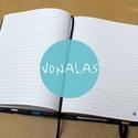 M-es VONALAS noteszBELSŐ, Naptár, képeslap, album, Jegyzetfüzet, napló, Könyvkötés, * 10x14 cm-es (M-es méretű) vonalas BELSŐ  * 100% újrahasznosított papírból készült.  * 200 oldalas..., Meska