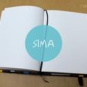 M-es SIMA noteszBELSŐ, Naptár, képeslap, album, Jegyzetfüzet, napló, Könyvkötés, * 10x14 cm-es (M-es méretű) sima lapos BELSŐ  * 100% újrahasznosított papírból készült.  * 200 olda..., Meska