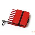 XS, késztermék! 'ZSEBES' típusú notesz/határidőnapló BORÍTÓ-piros-fehér-csíkos, Naptár, képeslap, album, Jegyzetfüzet, napló, Naptár, Könyvkötés, *** KÉSZTERMÉK! Azonnal átvehető/postázható!  Zsebes (POCKET) notesz *** CSAK BORÍTÓ!, 200 oldalas ..., Meska