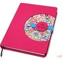 XL-es notesz/határidőnapló BORÍTÓ - pink-virágmintás, Naptár, képeslap, album, Jegyzetfüzet, napló, Naptár, Könyvkötés, Korongos (CLICK-IN+) notesz *** CSAK BORÍTÓ!, 200 oldalas REGULAR belívhez!  *** mérete: 14x20 cm, ..., Meska