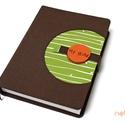 XL-es késztermék! 'KORONGOS' típusú notesz/határidőnapló BORÍTÓ-barna-zöld-narancs, Naptár, képeslap, album, Jegyzetfüzet, napló, Naptár, Könyvkötés, Korongos (CLICK-IN+) notesz *** CSAK BORÍTÓ!, 450 oldalas THICK belívhez!  *** mérete: 14x20 cm, **..., Meska