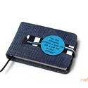 XS-es késztermék! notesz/határidőnapló BORÍTÓ -farmer-kék-csíkos, Naptár, képeslap, album, Jegyzetfüzet, napló, Naptár, Könyvkötés, Korongos (CLICK-IN) notesz *** CSAK BORÍTÓ!, 125 oldalas SLIM belívhez!  *** mérete: 10x7cm, *** XS..., Meska