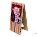 Eco fényképtartó - apró pöttyös és rózsaszín, Naptár, képeslap, album, Fotóalbum, ECO fényképtartó - 100 % újrahasznosított papírból készült -mérete: 12 cm x 22 cm -print..., Meska