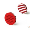 KORONG-piros-fehér-csíkos, Naptár, képeslap, album, KORONG cserélhető belsejű noteszekhez: https://www.meska.hu/Shop/index/15582?search_string=click-..., Meska