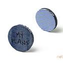KORONG-farmer-kék-fehér-csíkos, Naptár, képeslap, album, KORONG cserélhető belsejű noteszekhez: https://www.meska.hu/Shop/index/15582?search_string=click-..., Meska