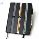 XL-es notesz/határidőnapló BORÍTÓ-fekete-szürke-fehér, Naptár, képeslap, album, Naptár, Jegyzetfüzet, napló, Könyvkötés,  BORÍTÓ cserélhető belsejű Noteshell noteszhez  - borító mérete: 14x20 cm, belív mérete: 14*19 cm -..., Meska