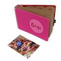 Fotóalbum babáknak / gyerekeknek - pink és piros, Naptár, képeslap, album, Fotóalbum, Textil borítású fotóalbum babáknak / gyerekeknek EGYEDI FELIRATTAL (MONO kollekció) -méret: ..., Meska