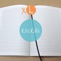 XL-es kockás BELSŐ, Naptár, képeslap, album, Jegyzetfüzet, napló, * 14x20 cm-es (XL-es méretű) kockás BELSŐ  * 200 OLDALAS! (regular)  * 100% újrahasznosított papírbó..., Meska