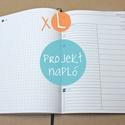 XL-es PROJEKT napló BELSŐ, Naptár, képeslap, album, Jegyzetfüzet, napló, * 14x20 cm-es (XL-es méretű) PROJEKT napló BELSŐ!  * 100% újrahasznosított papírból készült.  * 200 ..., Meska