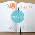 XL-es PONTHÁLÓS noteszBELSŐ, Naptár, képeslap, album, Jegyzetfüzet, napló, * 14x20 cm-es (XL-es méretű) ponthálós BELSŐ  * 200 OLDALAS! (regular)  * 100% újrahasznosított papí..., Meska
