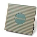 Eco négyzetes fotóalbum - kék csíkos, Naptár, képeslap, album, Fotóalbum, Noteshell ECO fotóalbum - 100 % újrahasznosított papírból készült (MONO eco kollekció) -mé..., Meska