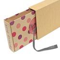 Eco kis fotóalbum védőtokkal - pink és lila színes pöttyös, Naptár, képeslap, album, Fotóalbum, Noteshell ECO fotóalbum védőtokkal - 100 % újrahasznosított papírból készült (MONO eco koll..., Meska