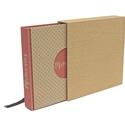 Eco négyzetes fotóalbum védőtokkal - apró pöttyös és rózsaszín csíkos, Naptár, képeslap, album, Fotóalbum, Noteshell ECO fotóalbum védőtokkal - 100 % újrahasznosított papírból készült (MONO eco koll..., Meska
