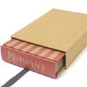 Eco kis fotóalbum védőtokkal - apró pöttyös és rózsaszín csíkos, Naptár, képeslap, album, Fotóalbum, Noteshell ECO fotóalbum védőtokkal- 100 % újrahasznosított papírból készült  (MONO eco koll..., Meska