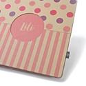 Eco nagy fotóalbum-pink és lila színes pöttyös és csíkos, Naptár, képeslap, album, Fotóalbum, Noteshell ECO fotóalbum - 100 % újrahasznosított papírból készült Vidám, pink, lila színes ..., Meska