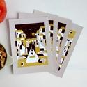 Karácsonyi üdvözlőlap (4db) Csendes éj grafikával, Naptár, képeslap, album, Karácsonyi, adventi apróságok, Képeslap, levélpapír, Ajándékkísérő, képeslap, Fotó, grafika, rajz, illusztráció, Köszöntelek a Noteszboltban!  Ez a Jézus születését és a három napkeleti bölcs látogatását ábrázoló..., Meska