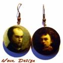 Verlaine   Rimbaud -Híres párok sorozat, Ékszer, óra, Fülbevaló, Paul Verlaine és Arthur Rimbaud a két francia költő ezen a pár fülbevalón. A két szimbolista költő v..., Meska