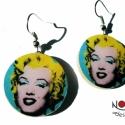 Marilyn Monroe by Andy Warhol fülbevaló -Dívák sorozat, Ékszer, Marilyn Monroe egyben filmsztár, énekesnő, és divatikon is volt. Hírneve a mai napig nem csökken, mo..., Meska