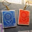 Megmutatom a bélyeggyűjteményem -Fülbevaló- Virágok Svájcból, Ékszer, Medál, !!!AKCIÓ!!! Kifutó észerek, utolsó darabok  Családi örökségünk volt a szenvedélyes bélyeggyűjtés. Mé..., Meska