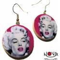 Marilyn Monroe Pop Art fülbevaló -Dívák sorozat, Ékszer, óra, Marilyn Monroe egyben filmsztár, énekesnő, és divatikon is volt. Hírneve a mai napig nem csökken, mo..., Meska