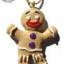 Mézi karácsonyi  nyaklánc -világos, Ékszer, Medál, Nyaklánc, Mézi, a mézeskalács figura a Shrekből ezúttal medál formájában tér vissza. Ideális karácsonyi visele..., Meska
