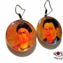 Frida Kahlo és Diego Rivera -Híres párok sorozat, Ékszer, Fülbevaló, Híres párok a művészet minden tájáról, legyen az film, zene, vagy irodalom.  A mexikói művészpáros, ..., Meska