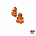 Mézeskalács ember fülbevaló -lányok, Ékszer, Fülbevaló, Apró gingerbread man, azaz mézeskalács emberke. Nagyon édes. A második kép illusztráció, a méret ábr..., Meska