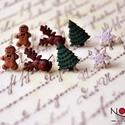 AKCIÓ 4 pár karácsonyi fülbevaló -mézi, rénszarvas, hópihe és fenyő, Ékszer, Fülbevaló, *Nagy téli akció* 1 pár: 1300 Ft 4 pár: 4000 Ft  *Mérete: kb. 1 cm  ***A fülbevaló nikkelmentes szer..., Meska