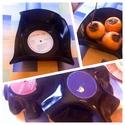 Bakelit tál -recycling retro #2, Igazi retró a bakelit lemezből készített tál....