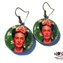 Frida Kahlo portré fülbevaló, Frida Kahlo festőnő portréja.  ***  *Hossza aka...