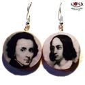 """Frédéric Chopin és George Sand -\""""Híres párok\"""" sorozat, Ékszer, Fülbevaló, Híres párok a művészet minden tájáról, legyen az film, zene, vagy irodalom. A lengyel zongoraművész-..., Meska"""