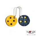 Yin és Yang fülbevaló #4 Sárga-kék komplementer, Ékszer, Fülbevaló, Yin & Yang aszimmetrikus bőrhatású fülbevalók  *** #4 Sárga-kék komplementer *** Különleges koproduk..., Meska