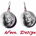 """Marilyn Monroe fülbevaló -\\\""""Dívák\\\"""" sorozat, Ékszer, *** Marilyn Monroe egyben filmsztár, énekesnő, és divatikon is volt. Hírneve a mai napig nem csökke..., Meska"""