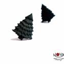 Fenyőfa fülbevaló, Ékszer, Fülbevaló, Díszíteni való fenyőfa az erdőből.  *Mérete: kb. 1 cm  ***A fülbevaló nikkelmentes szerelékkel készü..., Meska