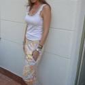 Vintage Blossom nadrág, Ruha, divat, cipő, Női ruha, Nadrág, Varrás, Minőségi amerikai designer pamut textilből készült gumis derekú nadrág, amely lefelé szűkűl és aljá..., Meska