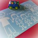 Autómatrica - pálcikafigurák (Csillaanyának), Dekoráció, Férfiaknak, Kép, Fotó, grafika, rajz, illusztráció, Mindenmás, Termékleírás:   Pálcikafigurákból és nevekből álló autómatrica. (Az ár 1 db összetett, több figuráb..., Meska